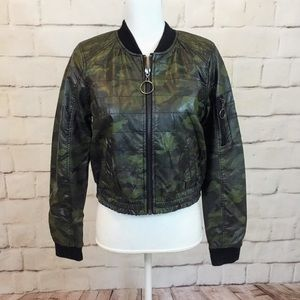 JOLT vegan leather bomber jacket!